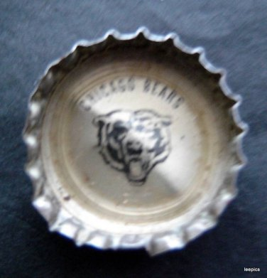 1960's Coke Bottle Cap NFL Football Team Logo Chicago Bears
