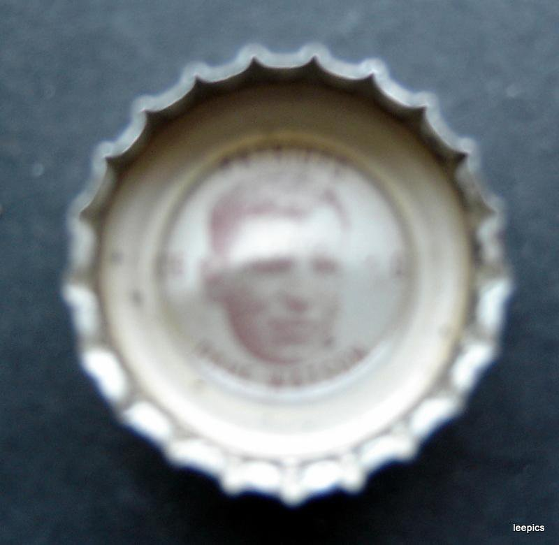 1960's  Coke Bottle Cap Football New England Patriots Dave Watson