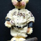 "Shelly Bears Co 1997 Bear Baseball Player Figure Ltd Ed #3,768 of 5,000 4"" Tall"