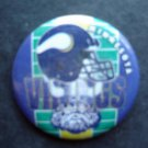"Minnestoa Vikings Football PIN 1 3/4"" Diameter Helmet and Viking Design"