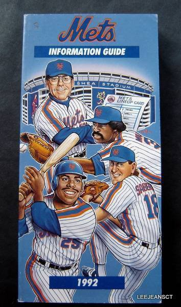 1992 New York Mets Media Information Guide Murray Bonilla Saberhagen Cover