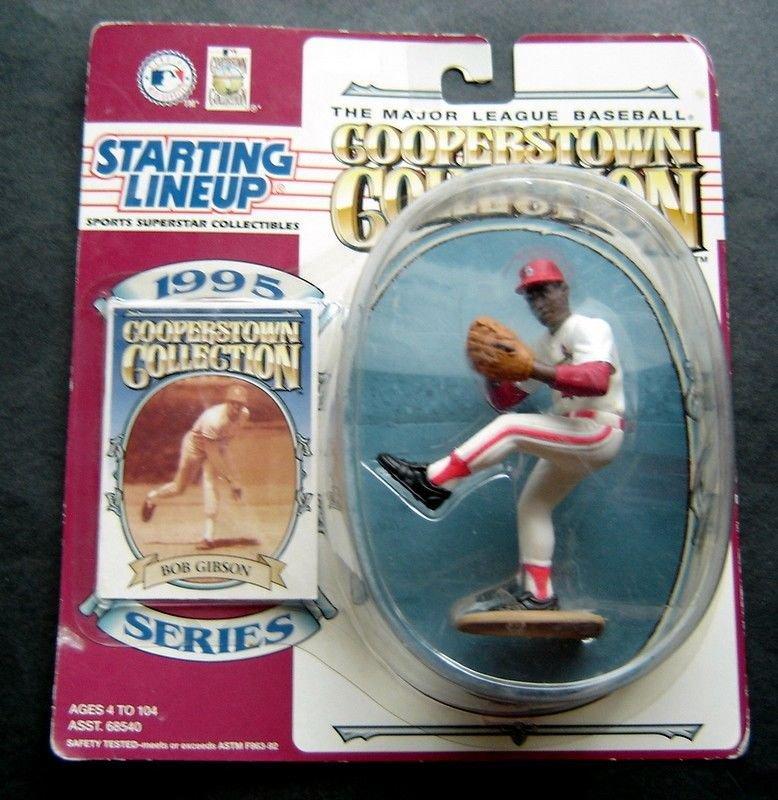 Bob Gibson 1995 Cooperstown Kenner Starting Lineup SLU Figure MLB MIP