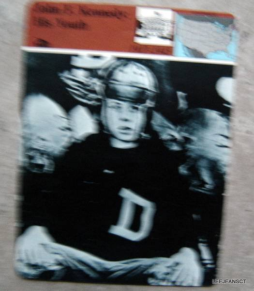 1977-1979 Sportscaster Card John F Kennedy His Youth Football Uniform 16 01