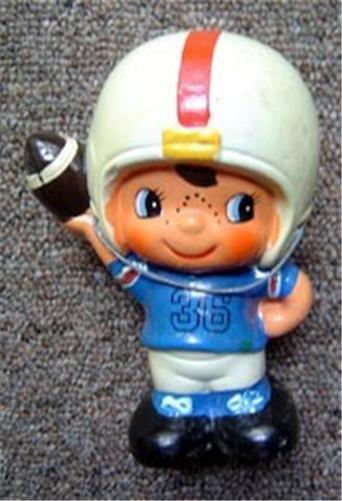 "Vintage Ceramic Football Player Bank 6"" Tall"