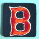 "Boston Red Sox ""B"" Baseball Cloth Patch 2"" Square"