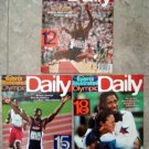 1996 Atlanta Olympics Daily SPORTS ILLUSTRATED  Lot (3) Days  # 12 / 15/ 18