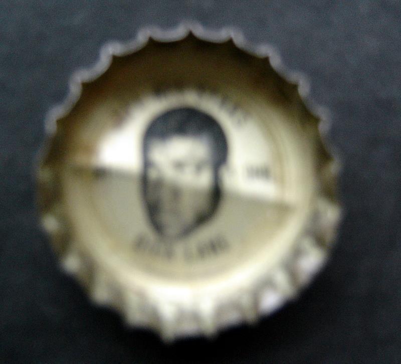 1960's Coke Bottle Cap Football NFL All Stars Dick Lane Detroit Lions