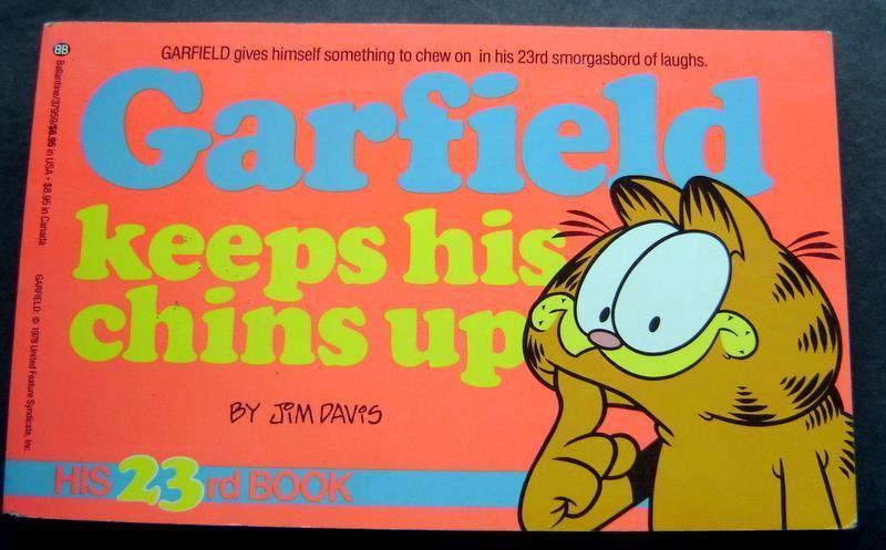 Garfield Keeps His Chins Up Book by Jim Davis 23rd Book 1992 Ballantine