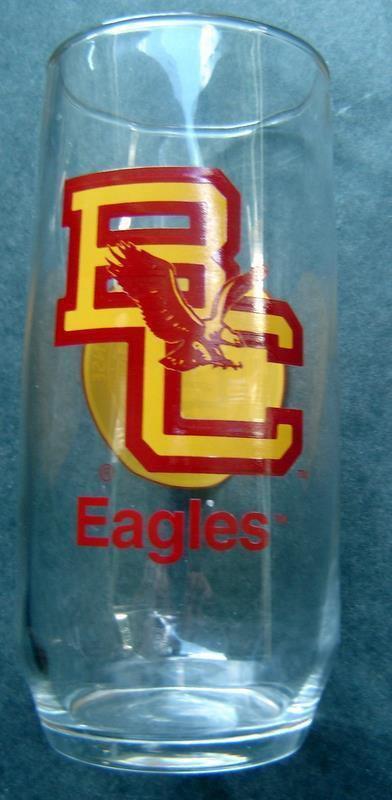"Boston College Eagles Clear Glass 16 oz Tumbler 6"" Tall"