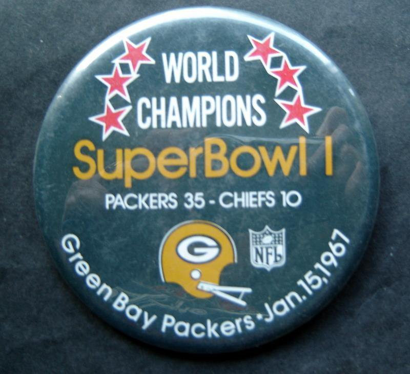 World Champions Super Bowl I 1 Football PIN Jan 15 1967 Packers vs Chiefs