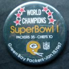 World Champions Super Bowl I 1 Football PIN Jan 15 1967 Packers vs Chiefs