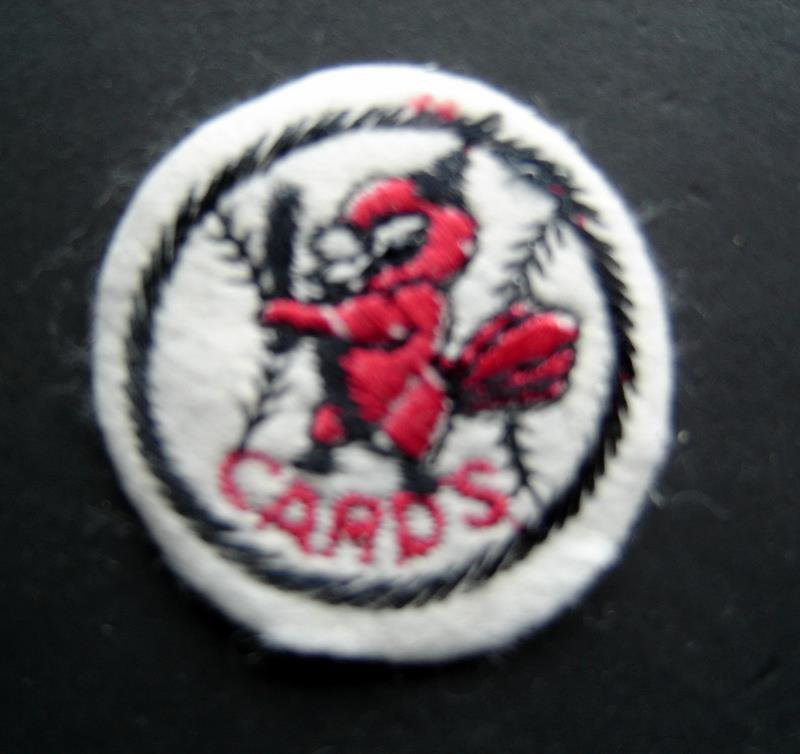"St. Louis Cardinals Cards Baseball 2"" Round White Patch"
