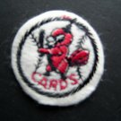 """St. Louis Cardinals Cards Baseball 2"""" Round White Patch"""