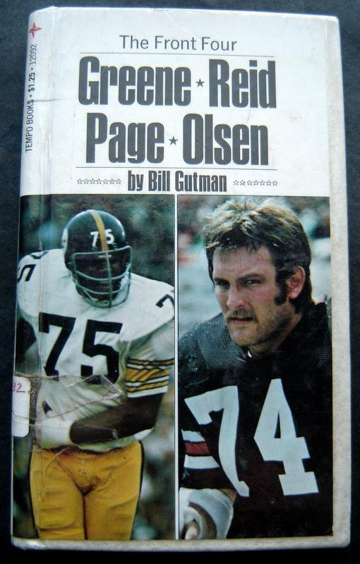 The Front Four Greene Reid Page Olsen Football Book by B Gutman Hardcover 1975