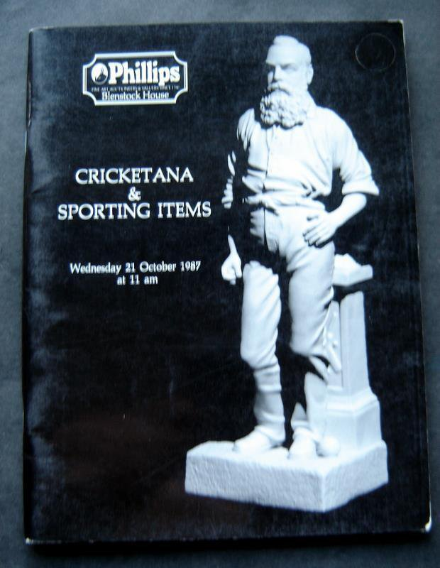 Cricket Cricketana & Sporting Items Phillips Auction Catalog October 1987