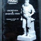 Cricket Cricketana & Sporting Items Phillips Auction Catalog October 1987