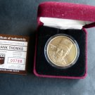 FRANK THOMAS Baseball Highland Mint Bronze Coin in Case COA # 00788 / 25000