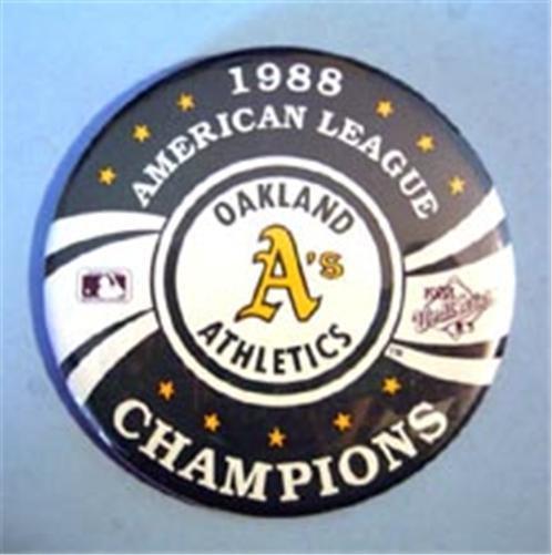 "1988 Oakland Athletics A's American League Champions Pin 3"""