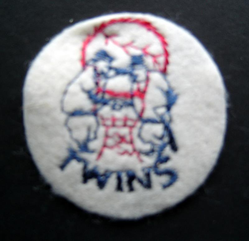 "Chicago Cubs Baseball 2"" Round White Patch"