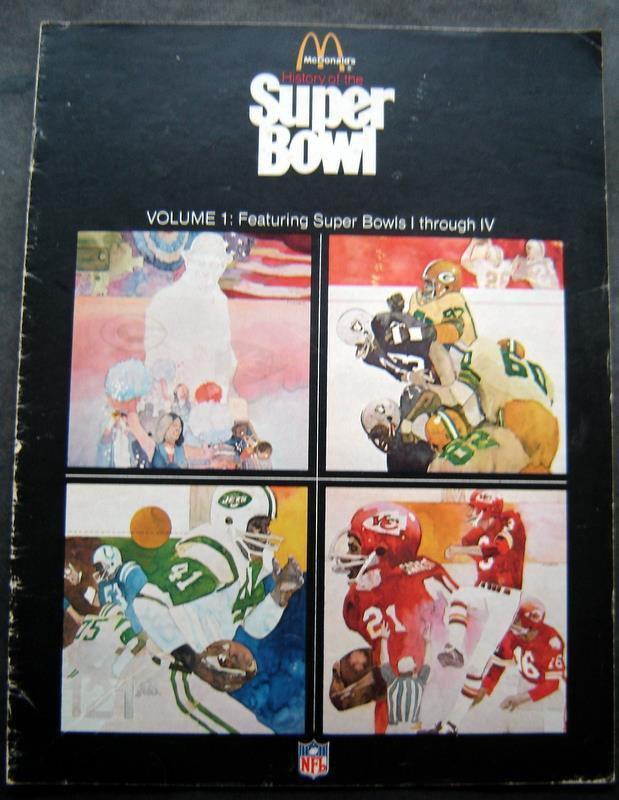 McDonalds History of the Super Bowl Booklet I - IV Vol 1 1977 Complete Records