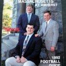 Universiry of Massachusetts UMASS at Amherst 1992 Football Guide Yankee Conf