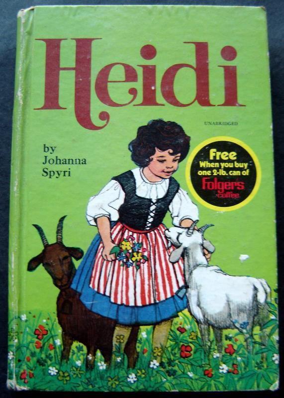 Heidi Book by Johanna Spyri Whitman Classics 1970 #1607 Folgers Adv