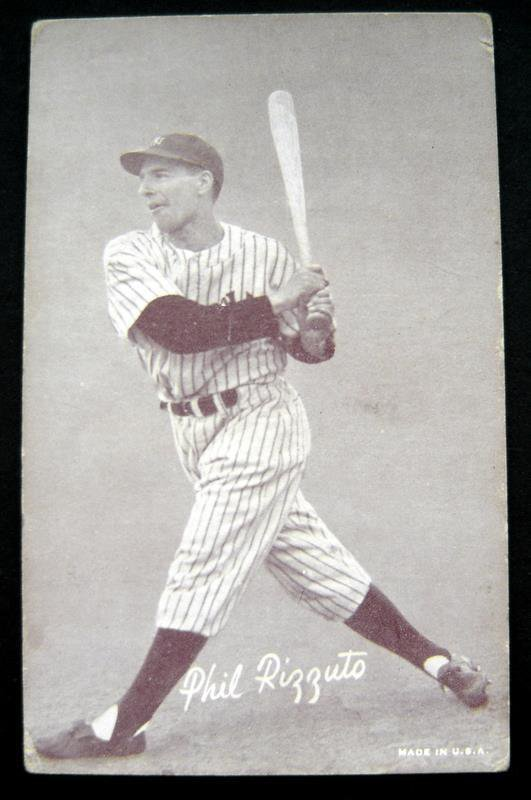 1947-1966 Arcade Exhibit Card Baseball Phil Rizzuto New York Yankees