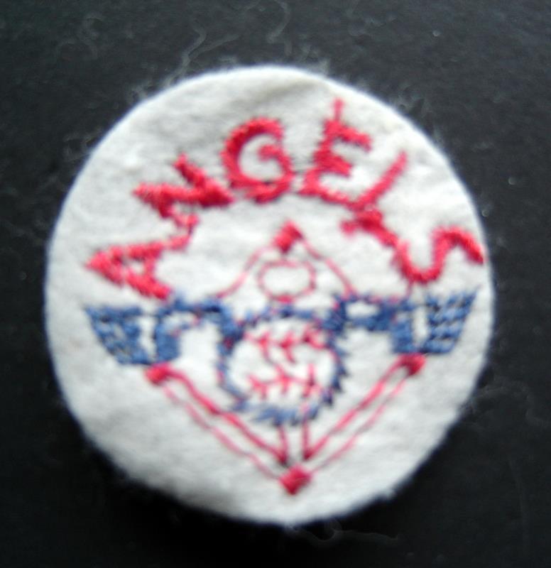 "California Angels Baseball 2"" Round White Patch"