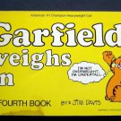 Garfield Weighs In Book by Jim Davis 4th Book 1982 Ballantine VG