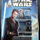 Star Wars 30 Foil Fold Valentines Cards with Seals 10 Designs in Box 2002