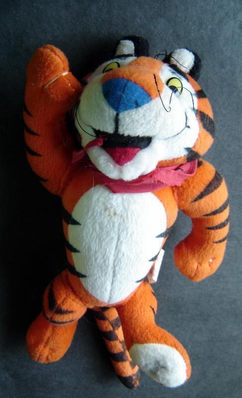 "Vintage Tony the Tiger Kelloggs Cereal Advertising Plush Stuffed Figure 8"" 1997"