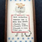 "This Kitchen Serves the 4 Basic Food Groups Cat Humorous Sign Plaque 4"" by 7"""