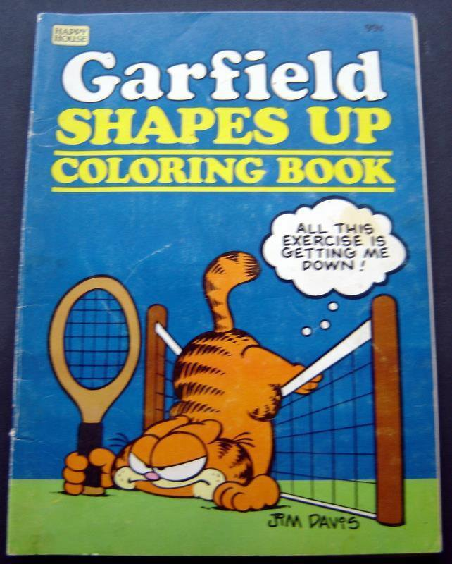 Garfield Shapes Up Coloring Book 1982 Happy House 48 Pages Partially Used