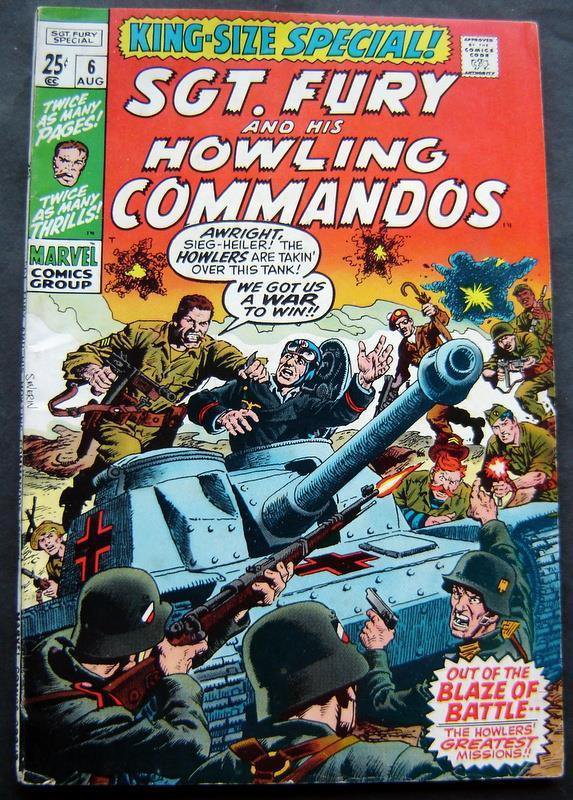 Sgt. Fury and His Howling Commandos King Size Special # 6 1970 Marvel Comic Book