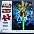 "Star Wars Clone Wars Lenticular Puzzle 48 Pieces 9"" by 12"" Sealed 2010 Complete"
