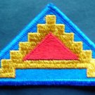Vintage US Army Military Patch 7th Army 7 Steps Triangle