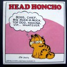 Garfield the Cat Tile Plaque Head Honcho Jim Davis by Enesco