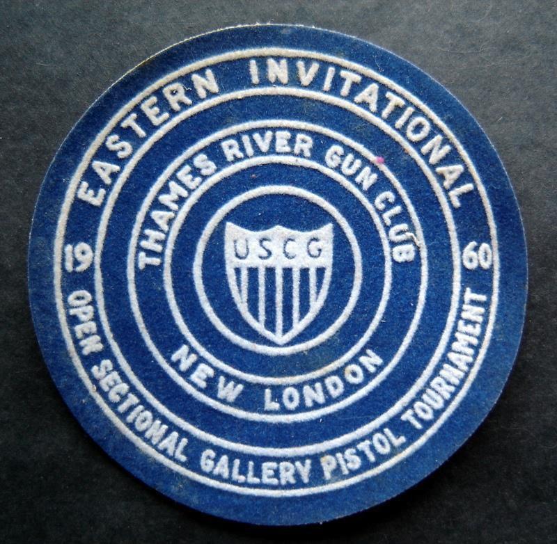 1960 Eastern Invitational Pistol Tournament Thames River Ct Gun Club Patch