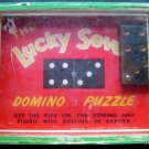 The Lucky Seven Domino Puzzle by R Journet & Co. London Wood Frame