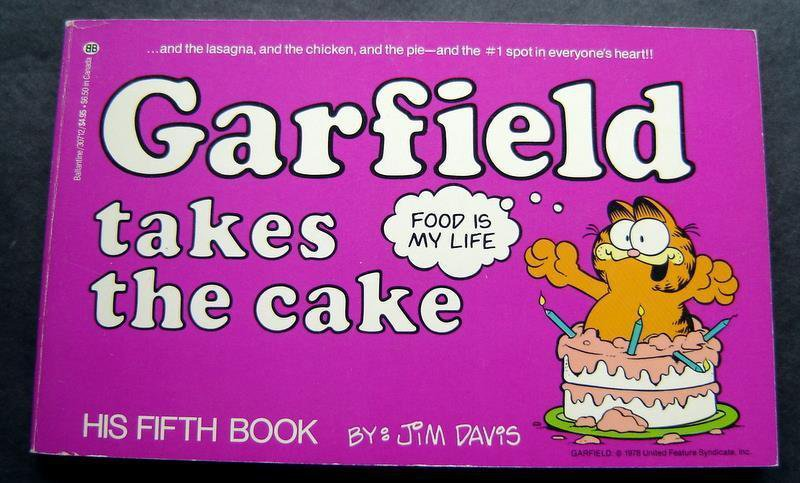 Garfield Takes the Cake Book by Jim Davis 5th Book 1982 Ballantine