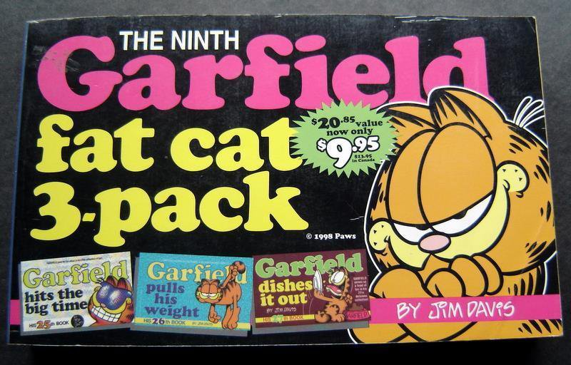 The Ninth Garfield Fat Cat Book 3 Pack # 25 26 27 by Jim Davis 1998 Ballantine