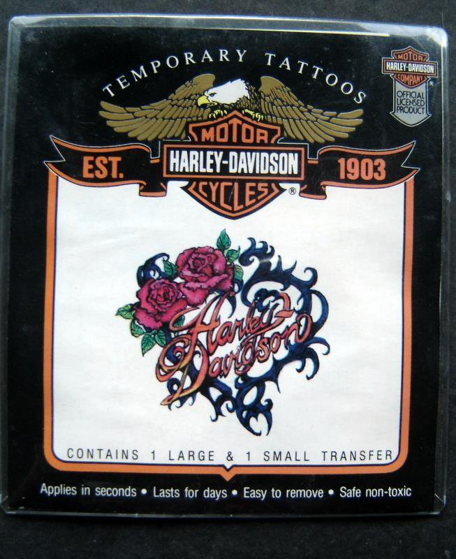 Harley Davidson Motorcycle Temporary Tattoos 1 large 1 Small Transfer MIP 1993