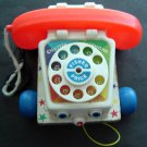 Vintage 1961 Fisher Price Chatter Telephone #747 Bell Rings Eyes Roll
