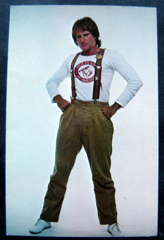 Mork from Ork TV Show Robin Williams Fan Photo Card 5 x 7 Facsimilie Autograph