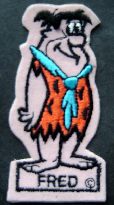 Fred Flintstone TV Hanna Barbera Cartoon Patch 1960's