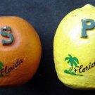 Vintage Salt and Pepper Shakers Florida Orange & Lemon by Tupper # 200 USA