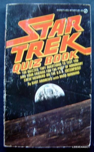 Star Trek Quiz Book 1001 Trivia Teasers for Trekkies 1977 by Bart Andrews