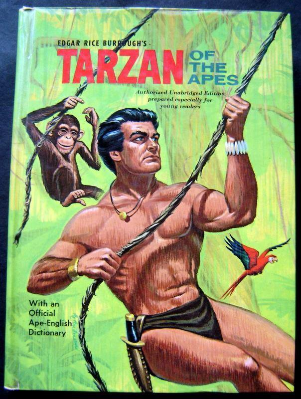 Tarzan of the Apes Book by Edgar Rice Burroughs 1964 Whitman HC # 1507