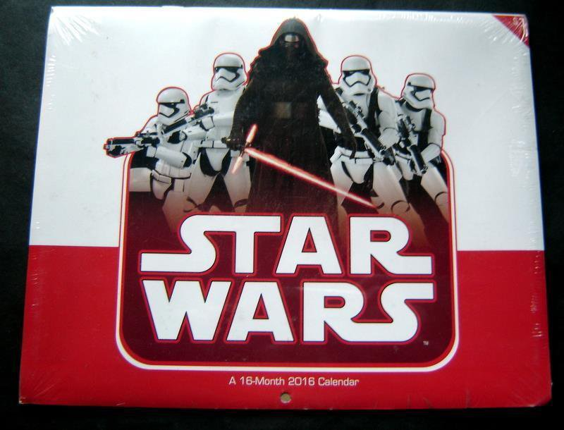 2016 Star Wars The Force Awakens 16 Month Calendar Mint Sealed