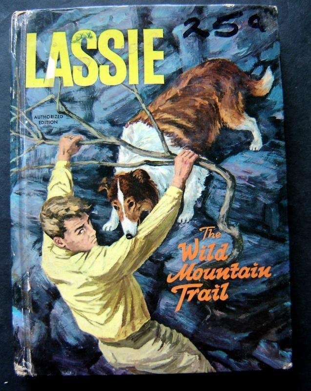 Lassie The wild Mountain Trail Book Whitman 1966 TV Edition HC #1513